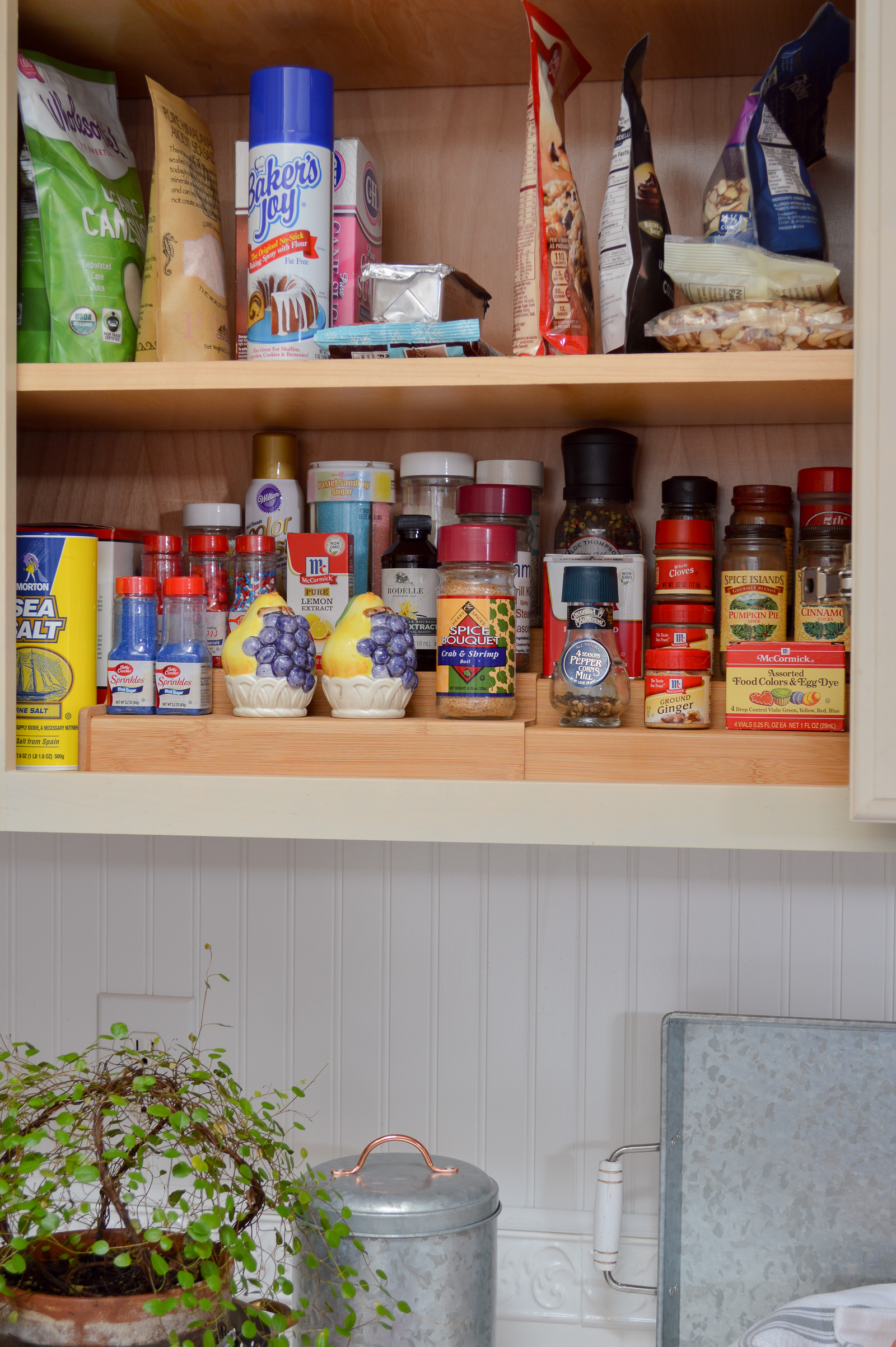 Tips and ideas to purge, clean and organize the kitchen - budget friendly real-life organization details at www.foxhollowcottage.com #sponsored with Better Homes & Gardens at Walmart