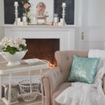 Simple Spring Cottage Mantel Decorating
