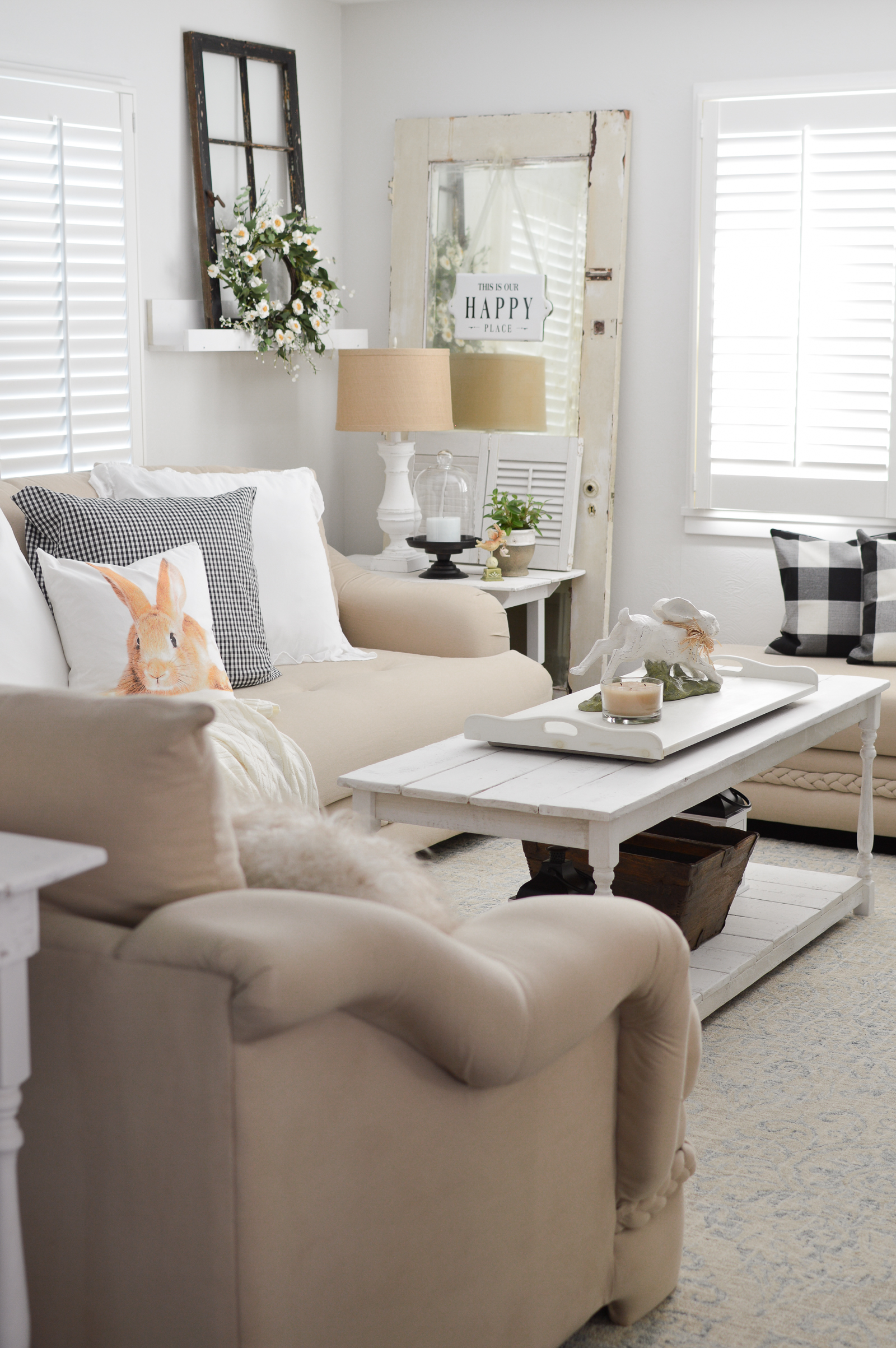 Casual Spring Decorating Cottage Living Room Tour