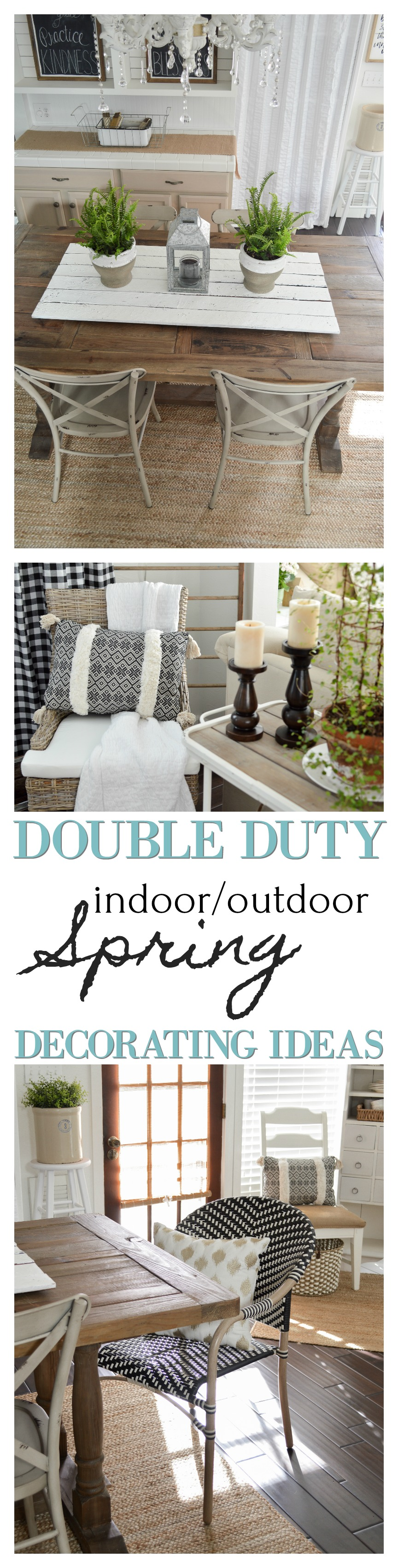 Double duty indoor decorating ideas for Spring with outdoor furniture and decor with Better Homes & Gardens at www.foxhollowcottage.com #sponsored | Simple, affordable cottage Farmhouse decorating inspiration