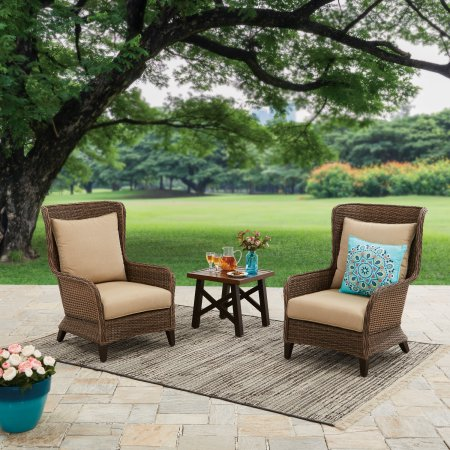 Better Homes & Gardens Camrose Chat Set Outdoor Wing Back Seating Chairs - #sponsored affiliate link