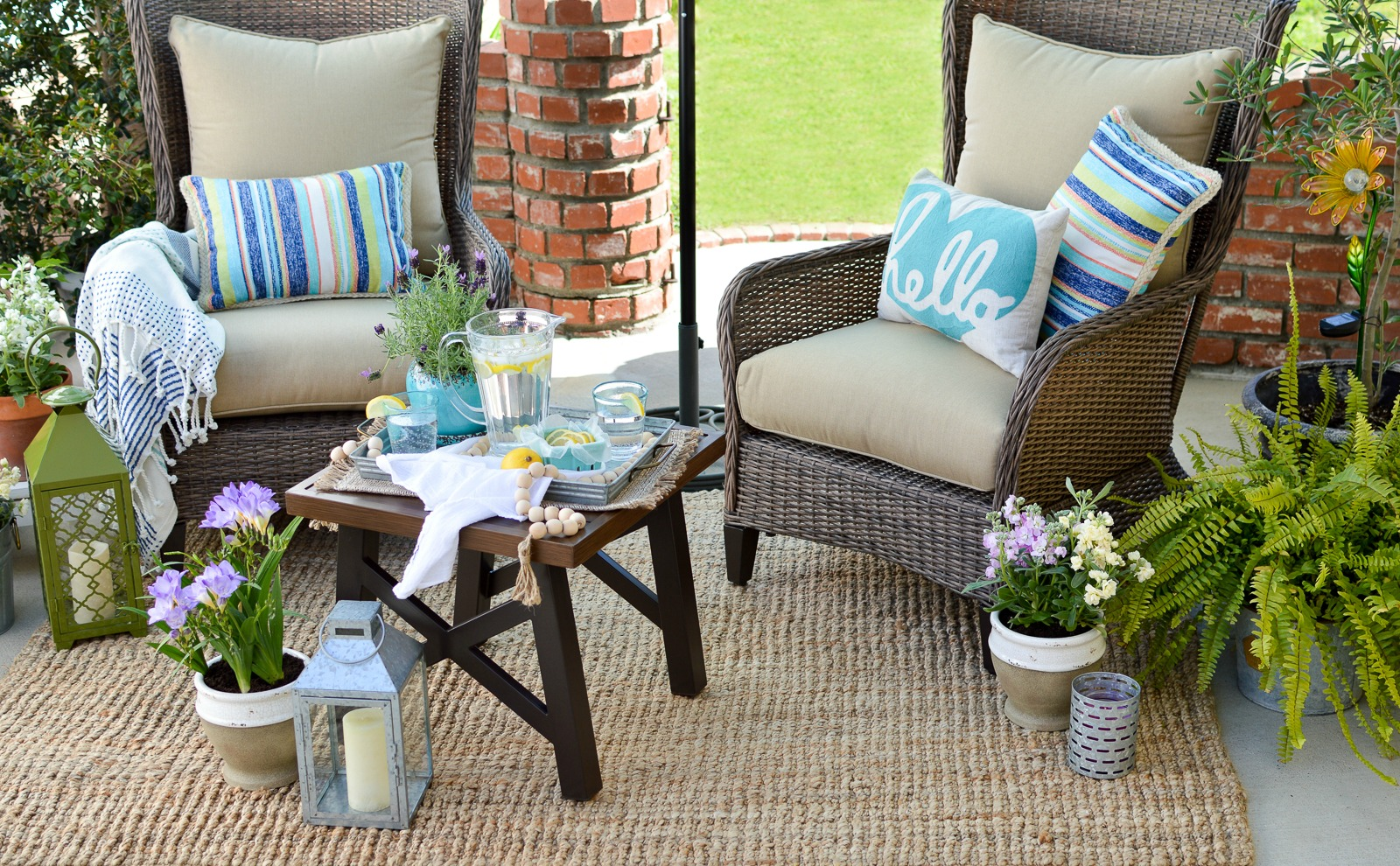 Small E Patio Decorating Ideas With Really Comfortable Outdoor Furniture Www Foxhollowcottage