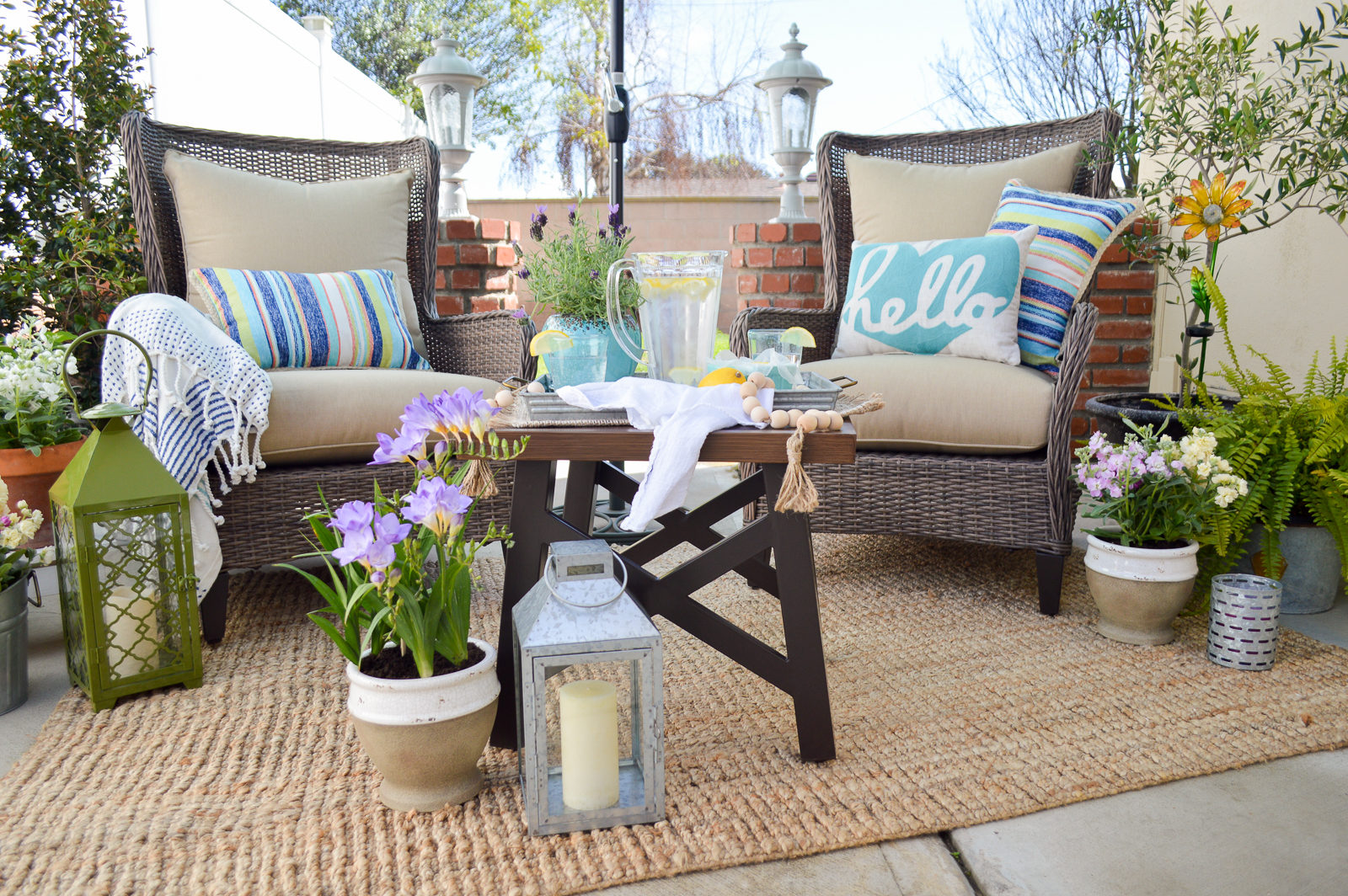 Outdoor Entertaining Furniture and Decorating Ideas - Fox Hollow Cottage