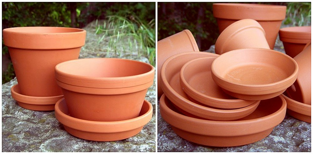 Beautiful Aged Terracotta Pot Paint Makeover - how to chalk paint planters and pots for a french cottage farmhouse look