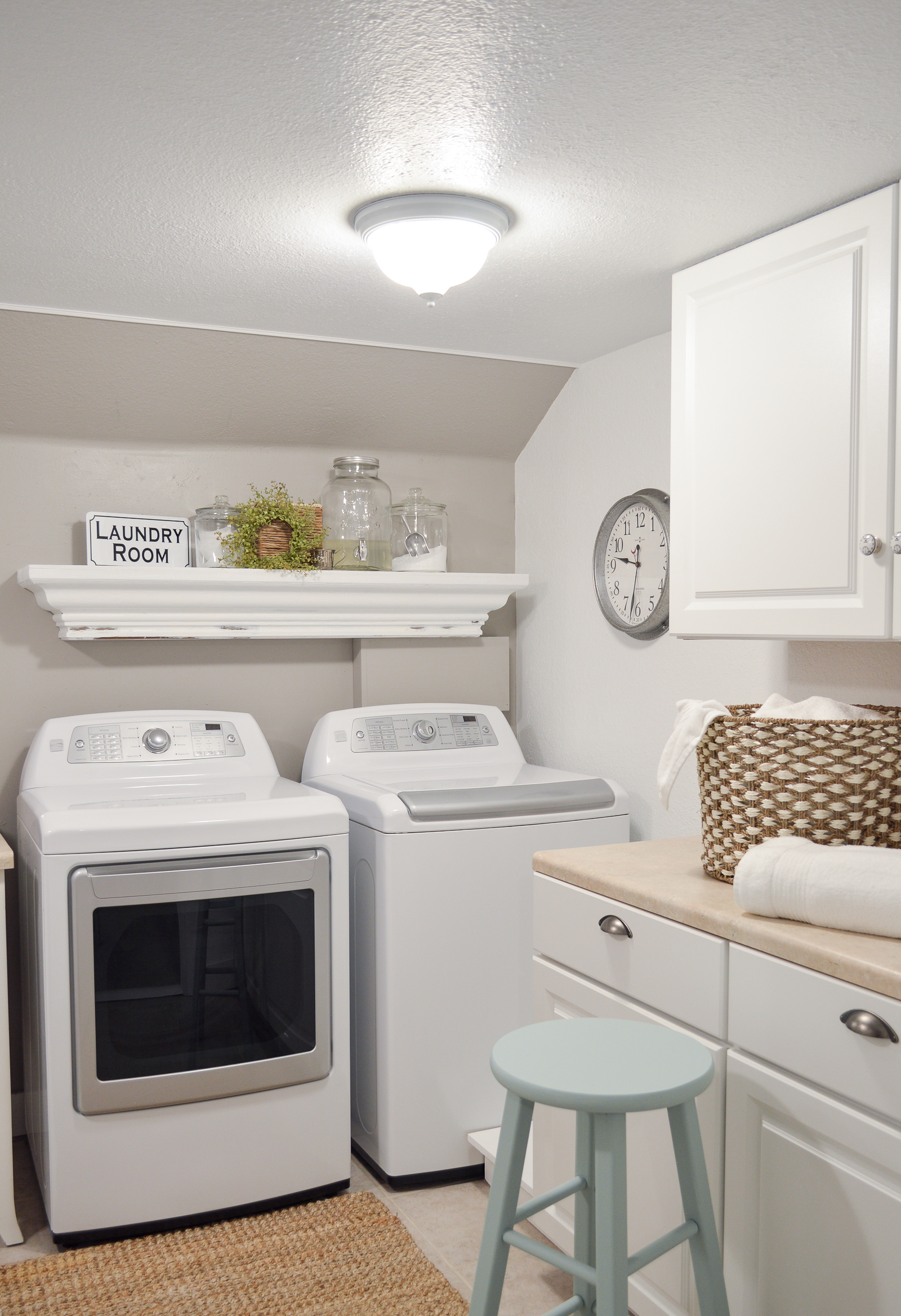 Small Space Combination Laundry Room Powder Bathroom Refresh Fox Hollow Cottage