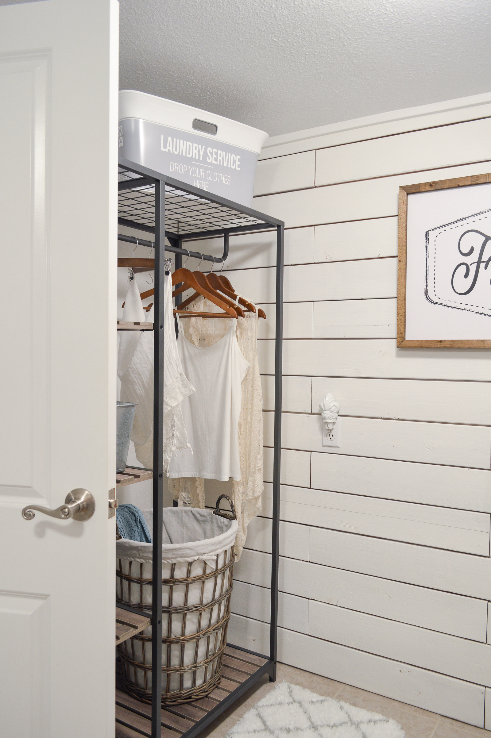 Small Space Powder Bathroom Laundry Room Makeover