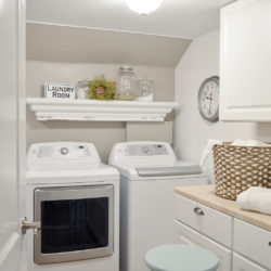 Small Space Combination Laundry Room Powder Bathroom Refresh
