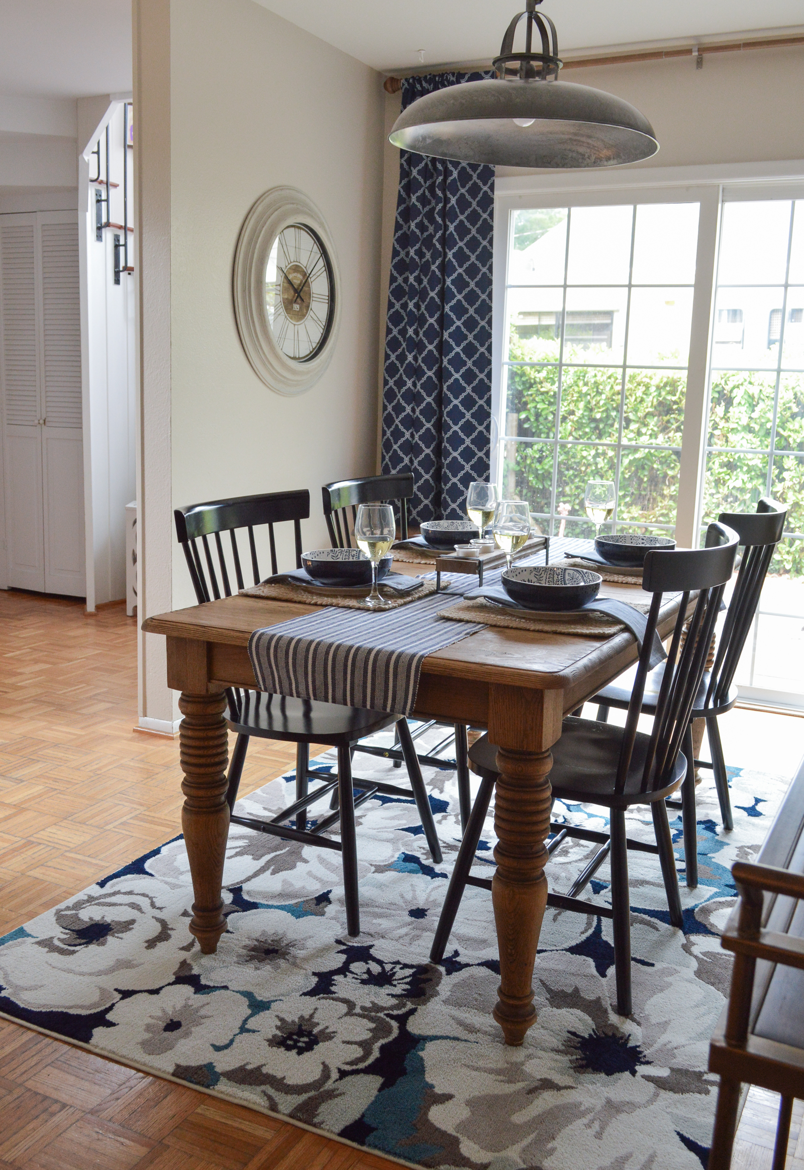 Small Space Dining Room Decorating Ideas, Before & After Makeover with Better Homes & Gardens from Walmart at foxhollowcottage.com #sponsored