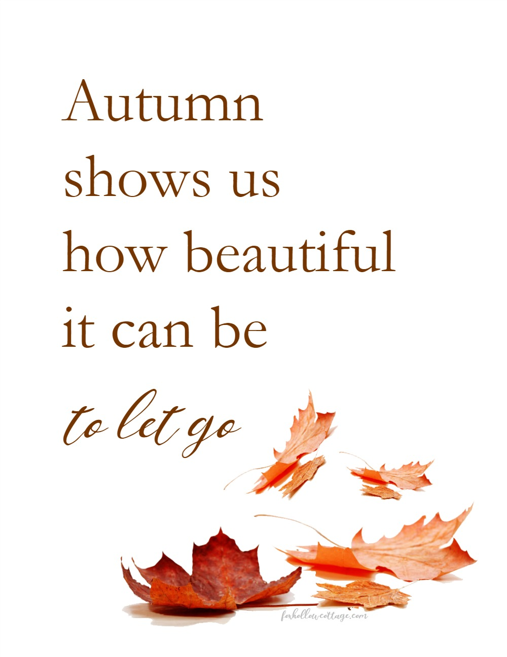 Autumn shows us how beautiful it can be to let go