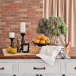 Brick Wall and Farmhouse Kitchen Island Reveal (Kitchen Makeover Part 1)