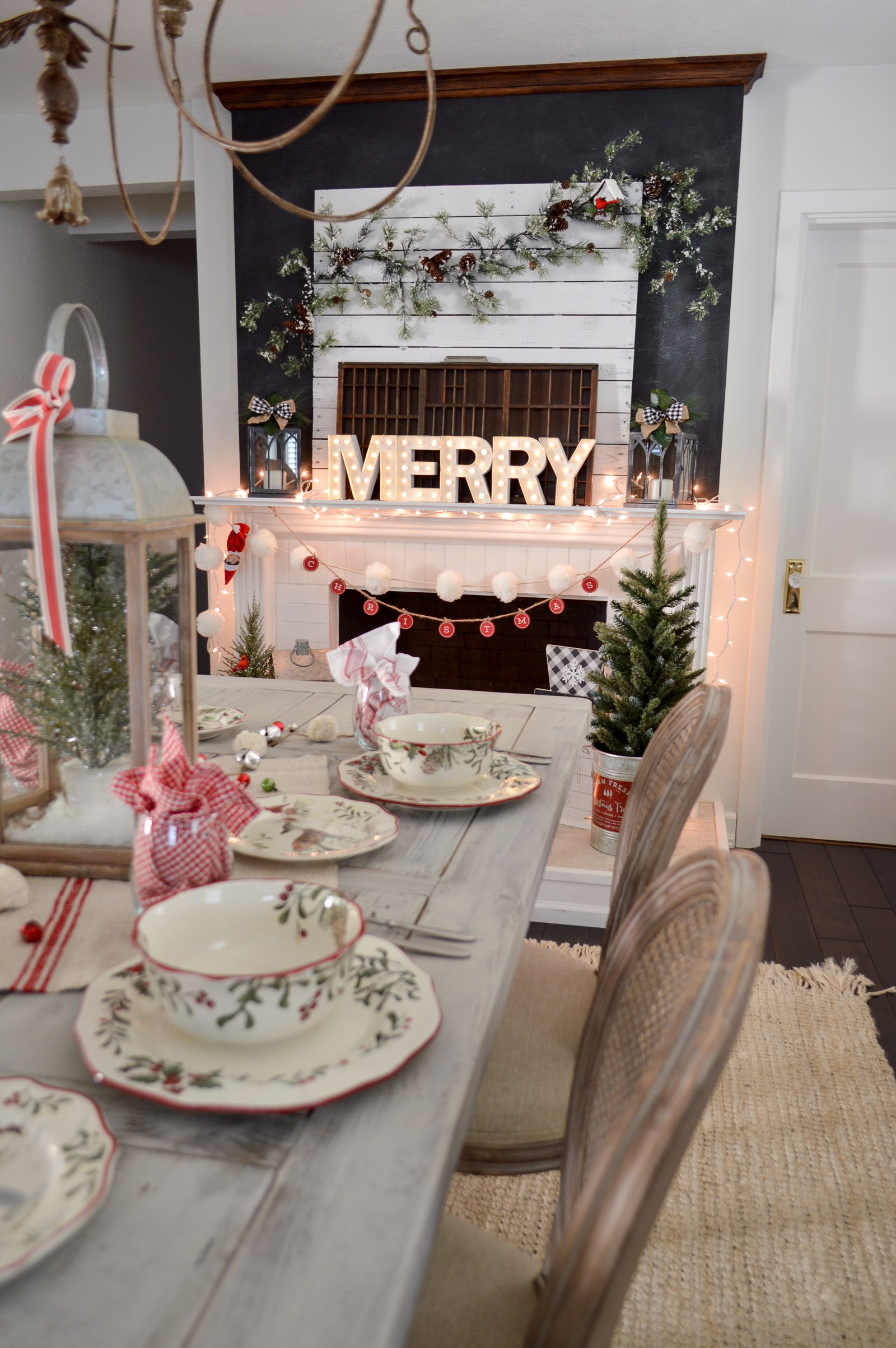 Better Homes And Gardens Christmas Ideas 2019 Festive Traditions Christmas Holiday Table and Fireplace Mantel
