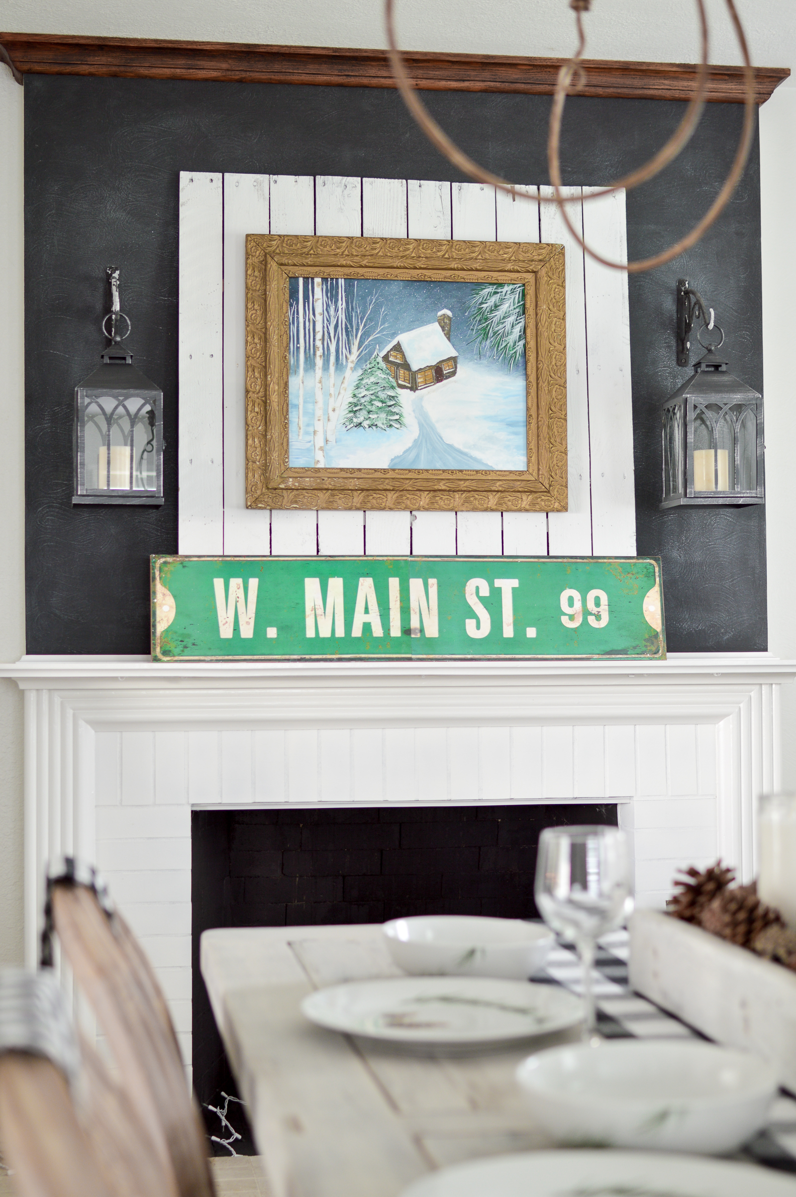 Fresh New Year Winter Home Makeover   Winter Living Room Refresh Home Makeover - Neutral cottage farmhouse decorating in black and white. Diamond shag rug from Better Homes & Gardens at Walmart. #ad