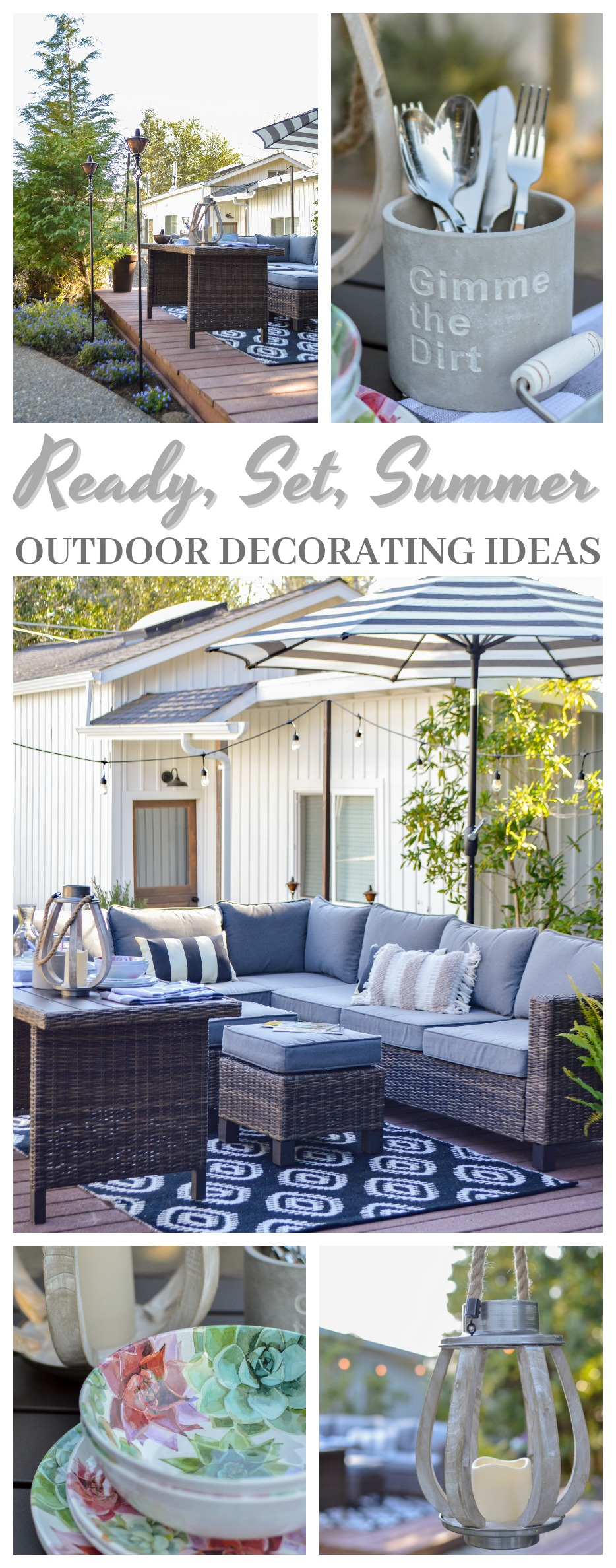 ready, set summer - outdoor entertaining ideas