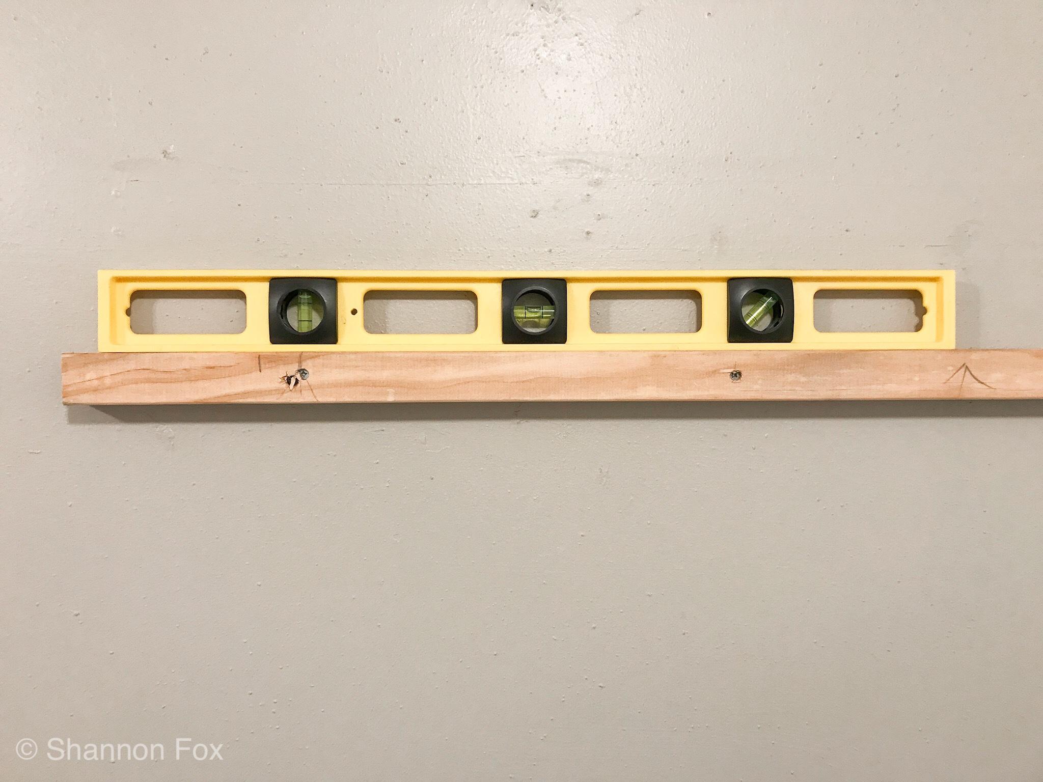 How To Make And Hang A Chunky Wood Wall Shelf -