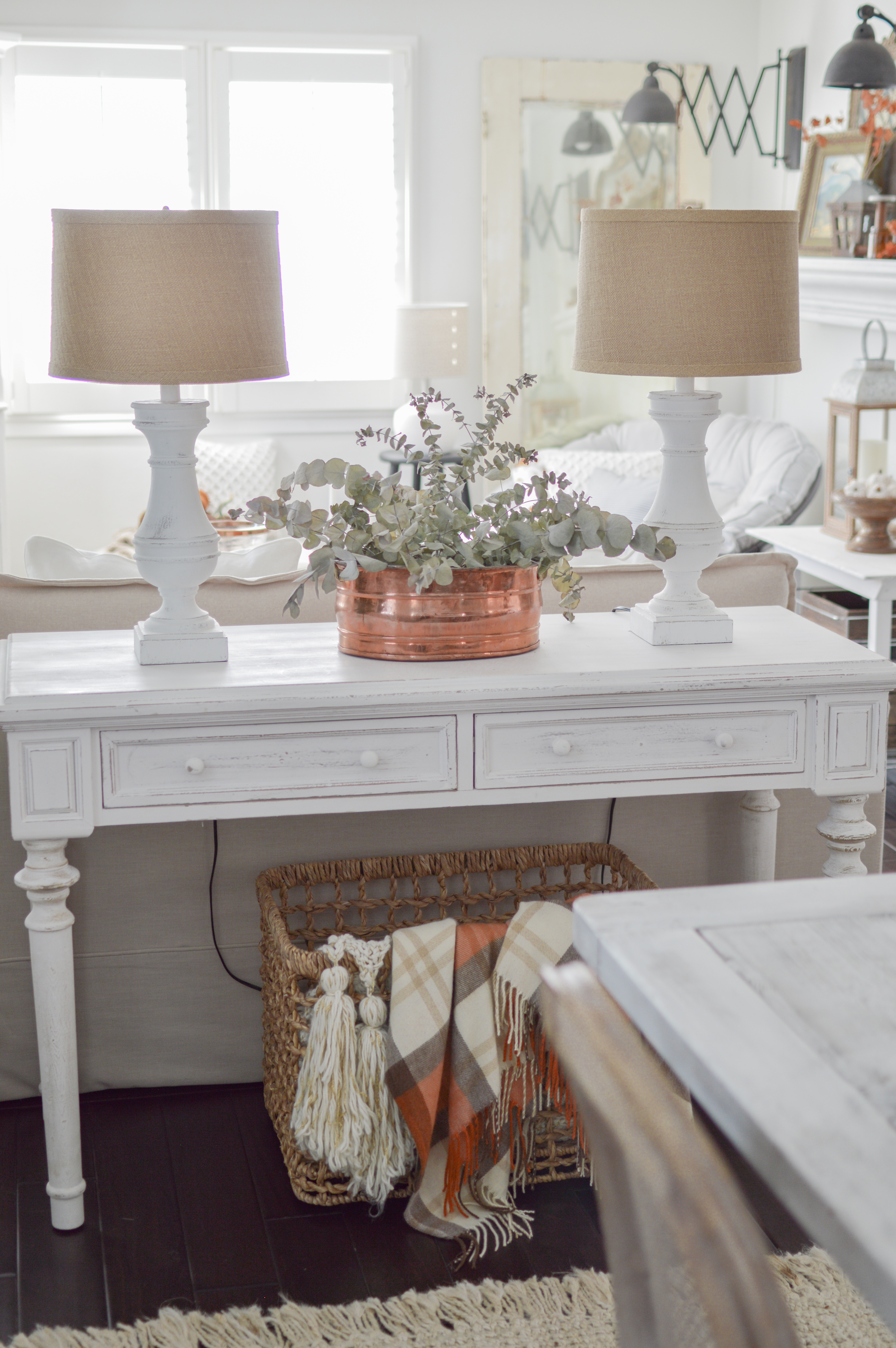 Cozy White Cottage Fall Home Tour Fox Hollow Cottage