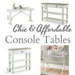 Chic And Affordable White Console Tables