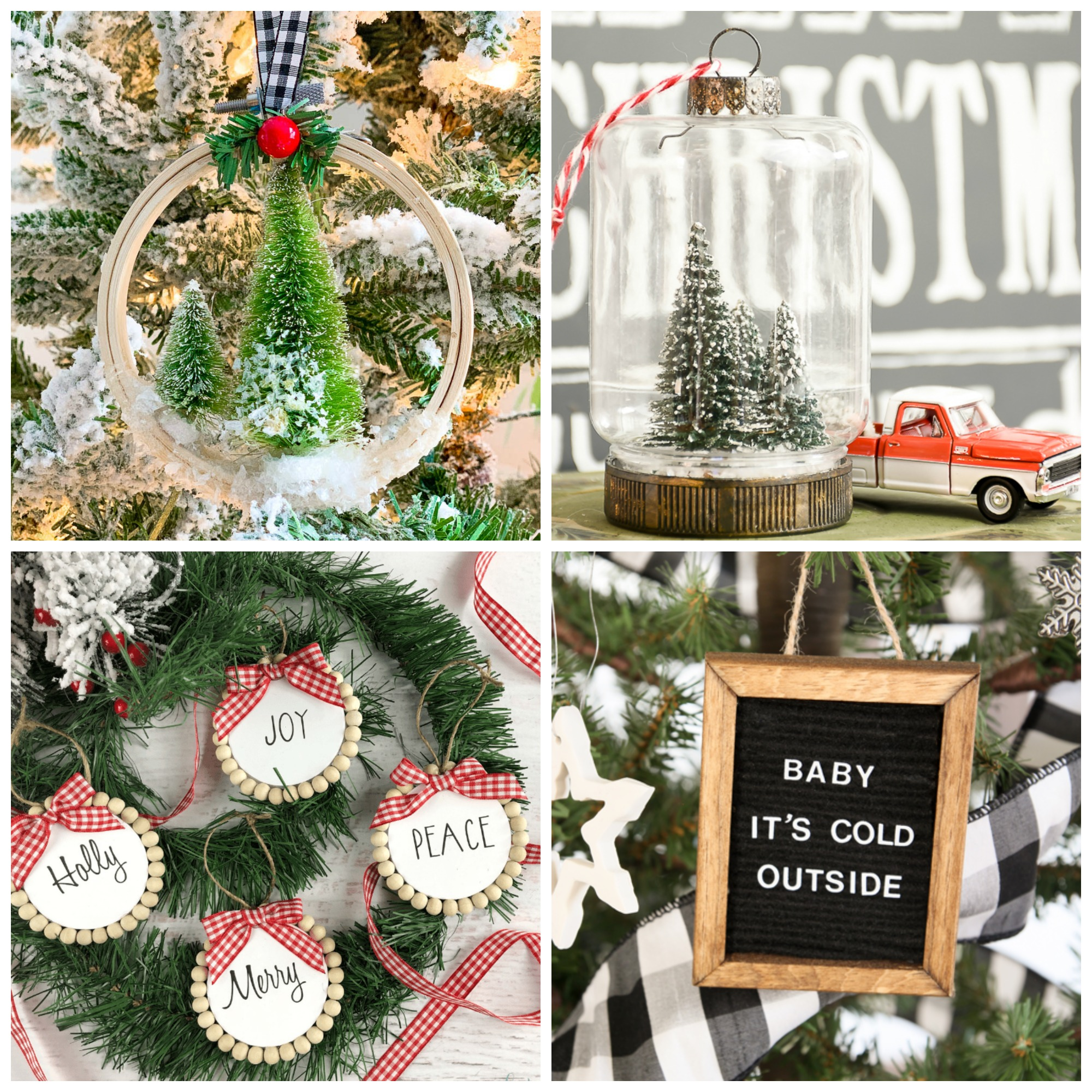 DIY Christmas Tree Ornament Craft Ideas - Fox Hollow Cottage