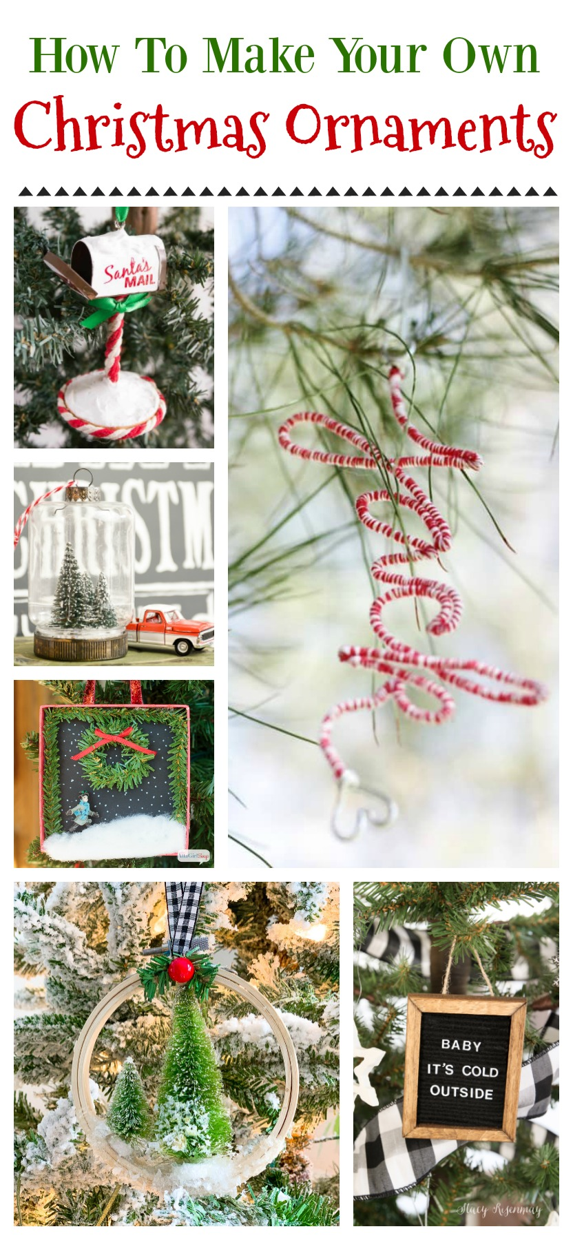 Diy Christmas Tree Ornament Craft Ideas Fox Hollow Cottage