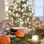 DIY Orange Pomander + Christmas Table Setting Ideas