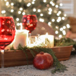 Cedar, Plaid And Pomegranate Christmas Table