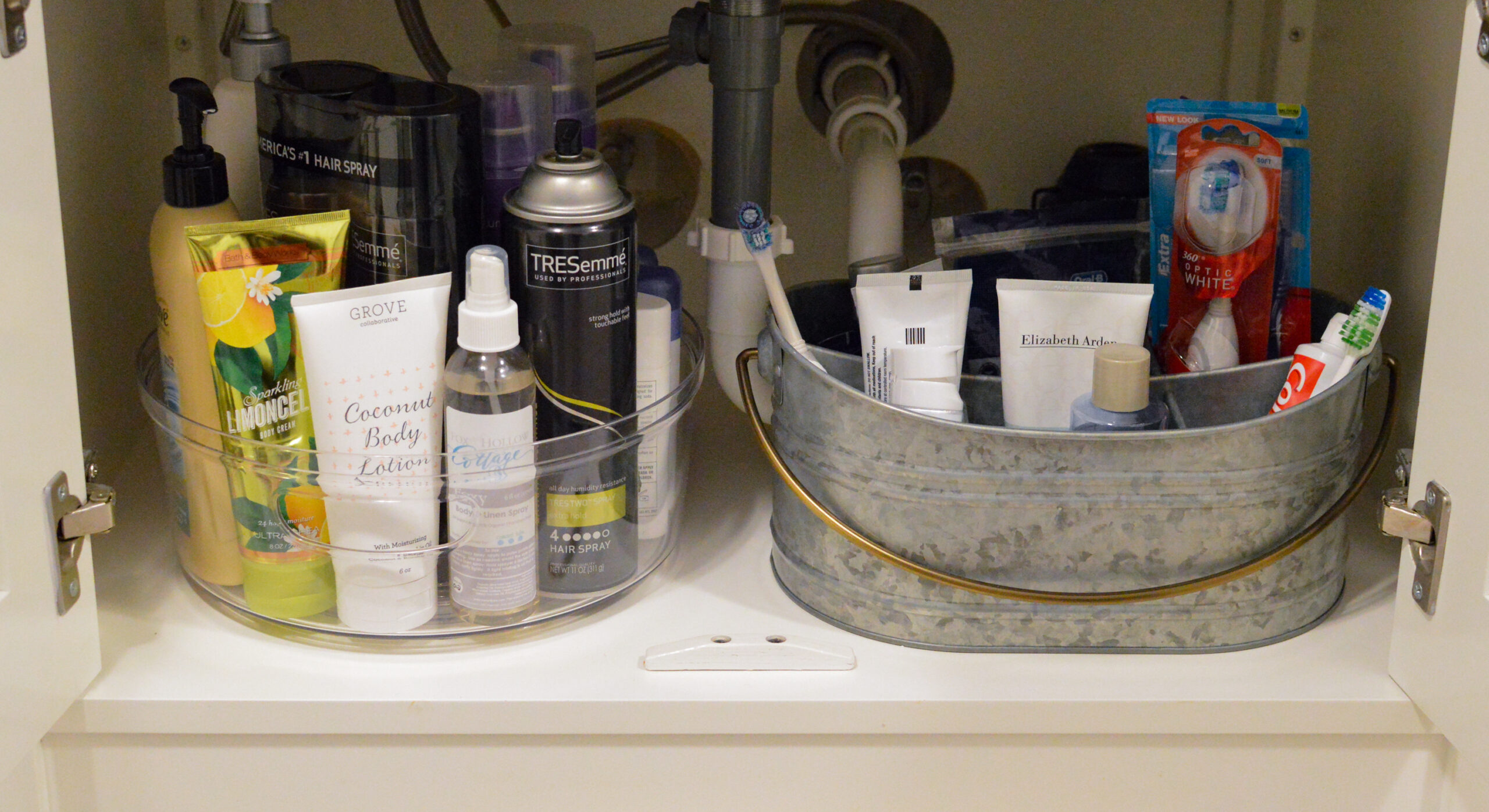 How To Organize Under The Bathroom Sink Fox Hollow Cottage