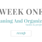 Week One Cleaning And Organizing Recap